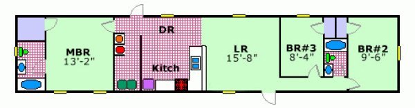 Senior retirement living manufactured and mobile home for 14x80 mobile home floor plans