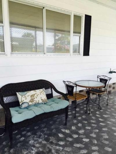 Outdoor seating in carport