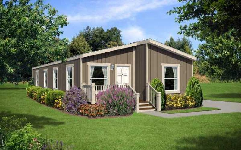 2 bedroom mobile home exterior