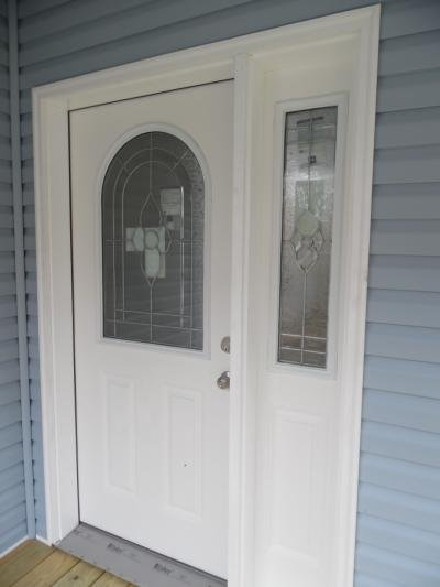 Glass and Sidelight Entry Door