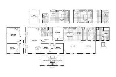 Mobile Home at 552 LAKE RUN DR Bunnlevel, NC 28323
