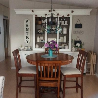 Dining room with display hutch