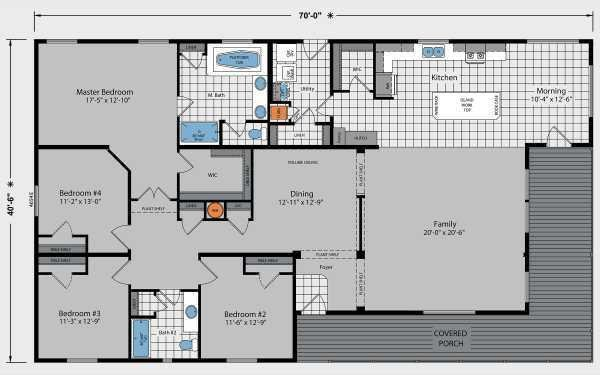 Skyline Homes Westridge 1471CT Mobile Home Model in undefined