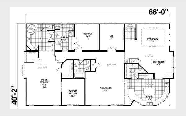 Skyline Homes Custom Villa B368CT Mobile Home Model in undefined