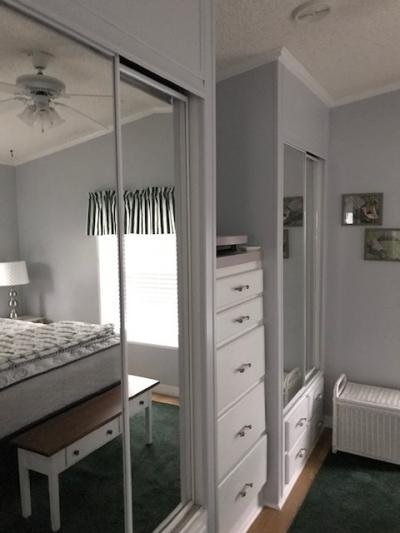 master bedroom mirrored closet
