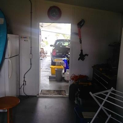 View from Storage to Carport