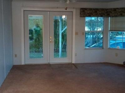 Sitting room with New French Doors