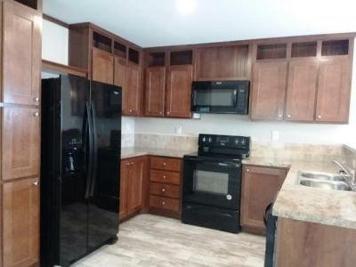 Kitchen with built in microwave