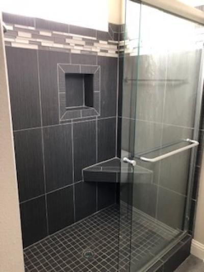 All tile shower in Master bath