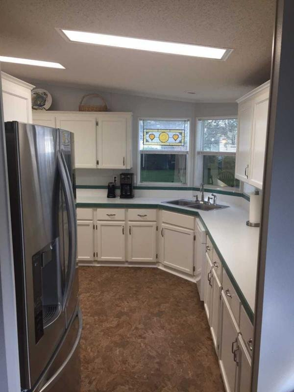 Kitchen new fridge & lighting
