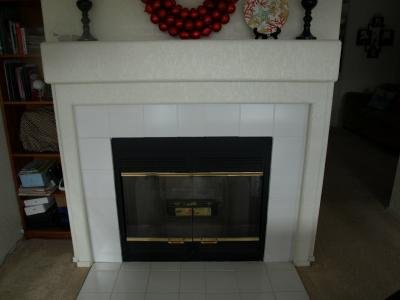Never used fireplace in the dining