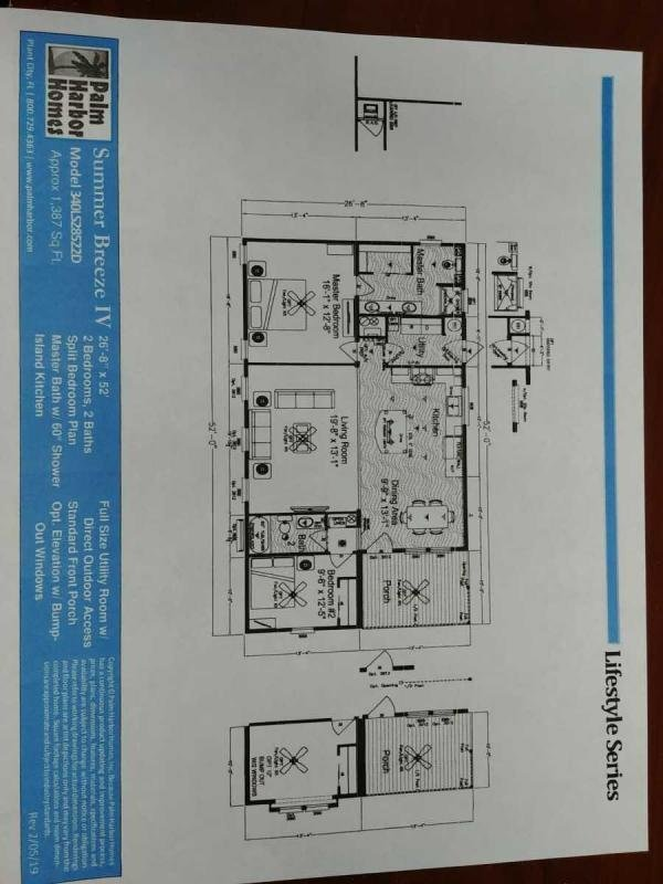 Floor plan of   Mobile / Manufactured Home via MHVillage.com