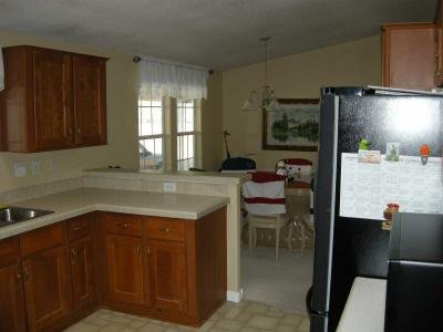 view into dining from kitchen