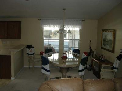 view into dining area from living