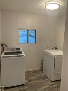 laundry room that was once a room