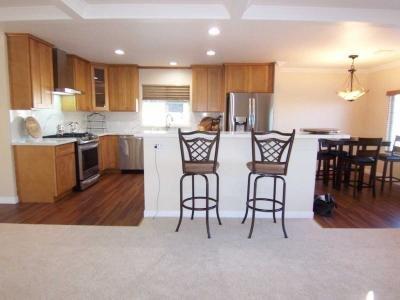 Kitchen features LVT flooring
