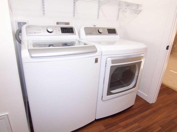 new LG washer and gas dryer.