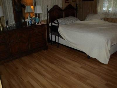 MAster bedroom with new floors