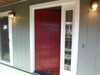 Custom entry door and sidelite