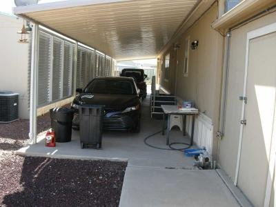 covered carport, shed entry