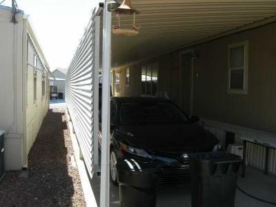 privacy slats along carport