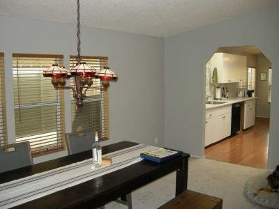 dining area, kitchen entry