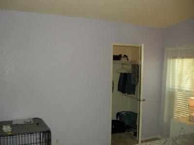 walk in closet in master bedroom