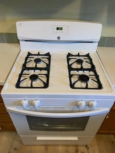 Gas stove included