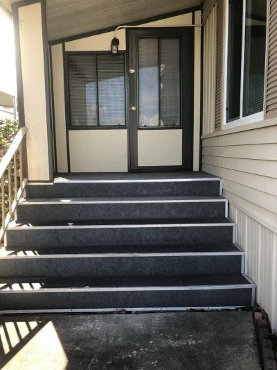 Front steps to deck room entry