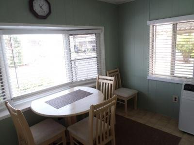 bay window and dining area