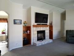 Fireplace & built-in shelves.