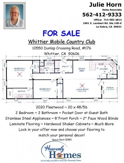 Mobile Home at 10550 Dunlap Crossings Rd #176 Whittier, CA 90606