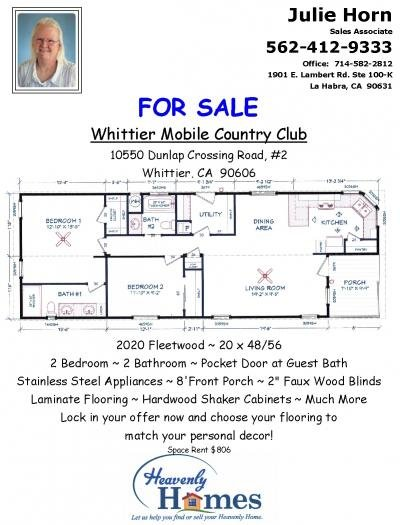 Mobile Home at 10550 Dunlap Crossings Rd #2 Whittier, CA 90606