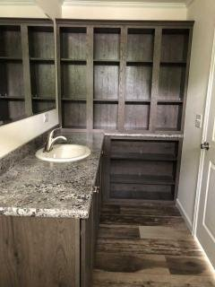 Master bathroom with storage