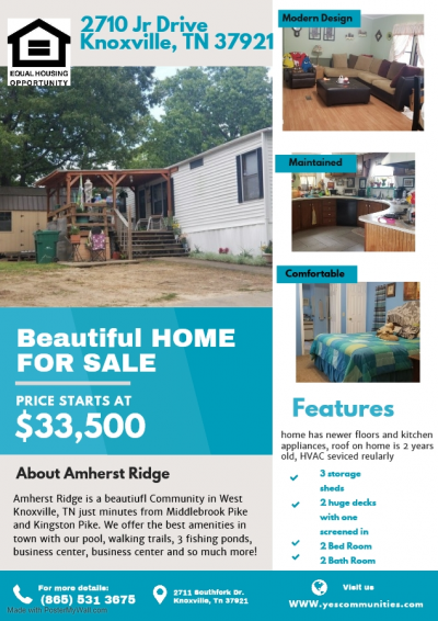 Mobile Home at 2710 Jr Drive Knoxville, TN 37921