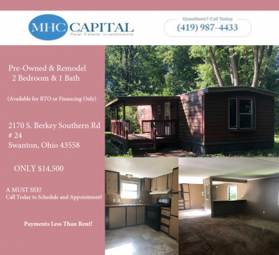 Mobile Home at 2170 S. Berkey Southern Swanton, OH 43558