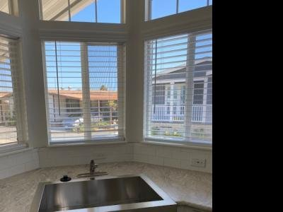 Farn sink with bay window view