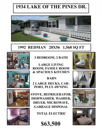 Mobile Home at 1934 Lake Of The Pines Dr. Indianapolis, IN 46234