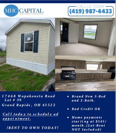 Mobile Home at 17468 Wapakoneta Road Lot 39 Grand Rapids, OH 43522