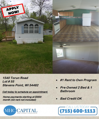 Mobile Home at 1540 Torun Rd Stevens Point, WI 54481
