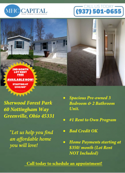 Mobile Home at 60Nw Nottingham Way - Lot 60Nw Greenville, OH 45331