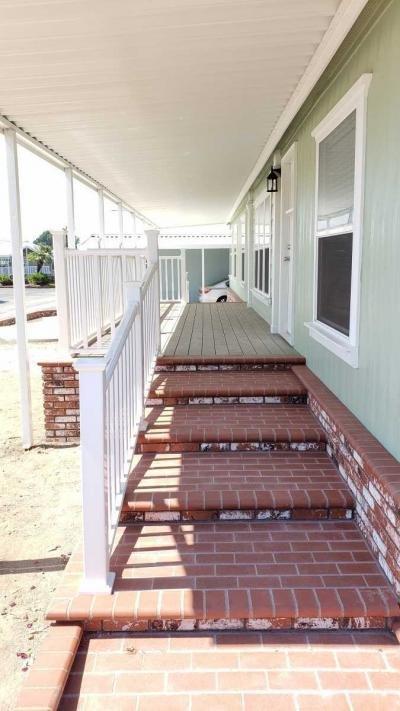 brick steps to deck