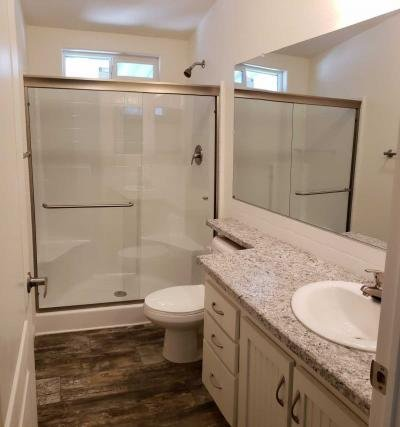 Guest bathroom with large shower