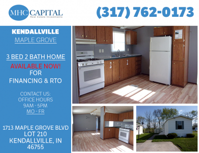 Mobile Home at 412 Sycamore Ln Kendallville, IN 46755