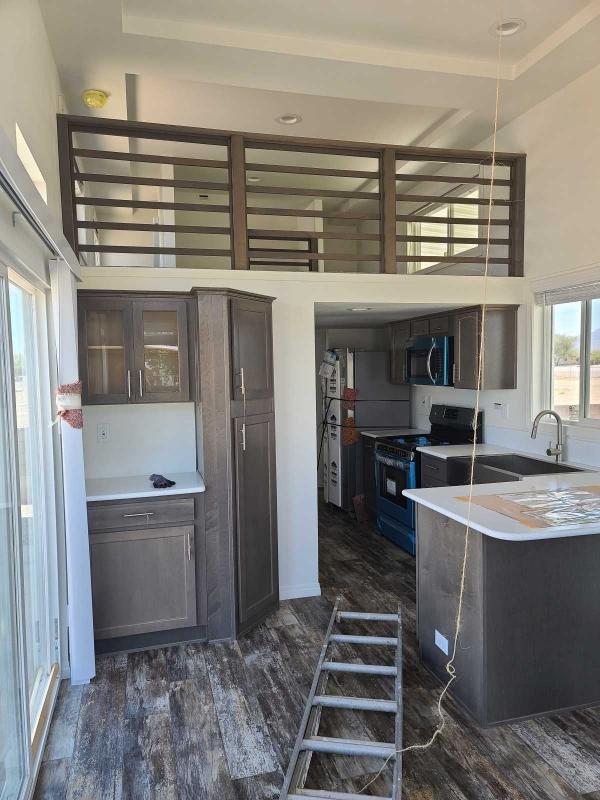 Designer kitchen with loft above
