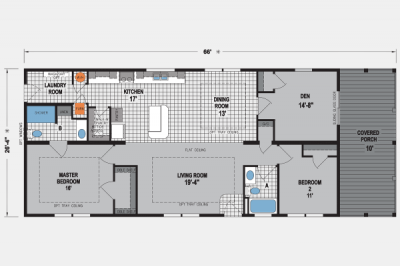 Skyline Homes Brookstone Community 9132 Mobile Home Model