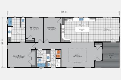 Skyline Homes Arlington 3502 Mobile Home Floor Plan