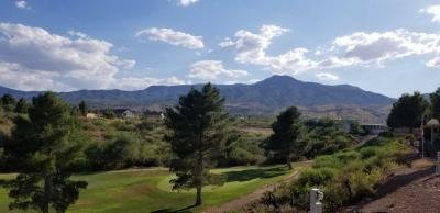 Golf course and mountain views