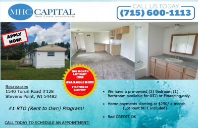 Mobile Home at 540 Torun Rd #128 Stevens Point, WI 54481