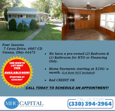 Mobile Home at 7 Ceres Dr. 007 Vienna, OH 44473